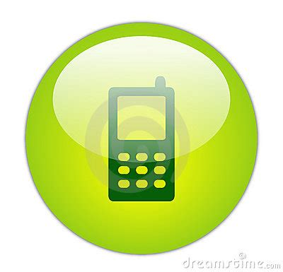 glassy green mobile phone icon royalty  stock