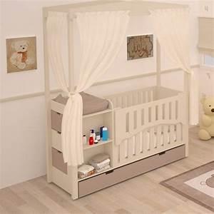 Meuble Chambre Bébé : lit b b combin volutif meuble de rangement chambre b b volutive ~ Teatrodelosmanantiales.com Idées de Décoration