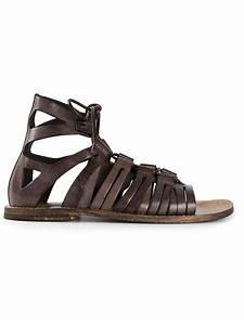 Dolce & Gabbana Gladiator Sandals in Brown for Men | Lyst