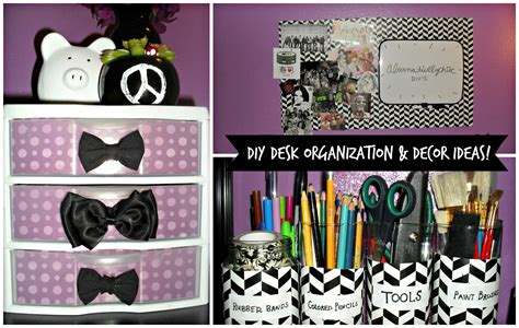 diy desk organization decor ideas youtube