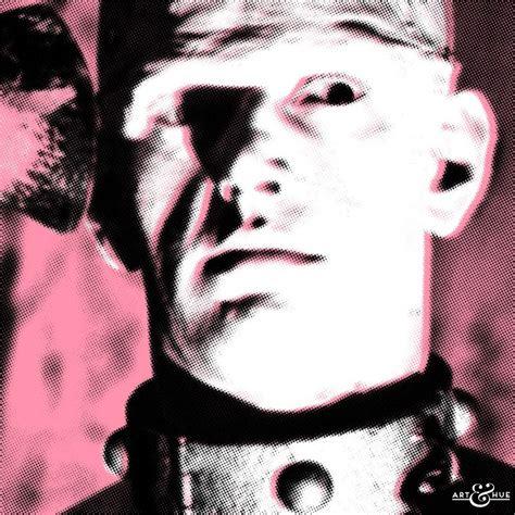 hammer horror  frankenstein pop art david prowse art