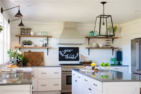 farmhouse kitchen shaker cabinets our farmhouse kitchen reveal the house