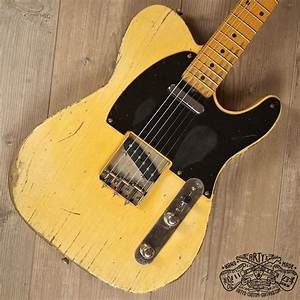 Broadcaster Butterscotch Blonde Telecaster Heavy Relic Tele Maple Neck Swamp Ash Body Bakelite