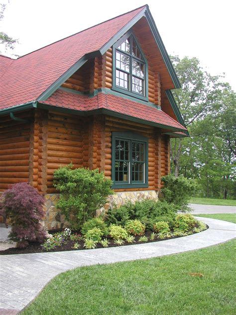 duck bay luxury log home plan   house plans