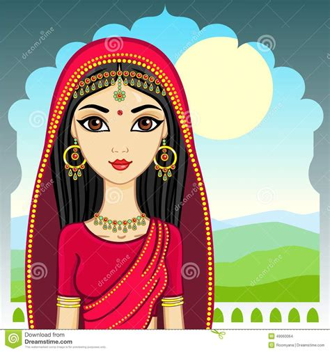 indian girl stock vector image