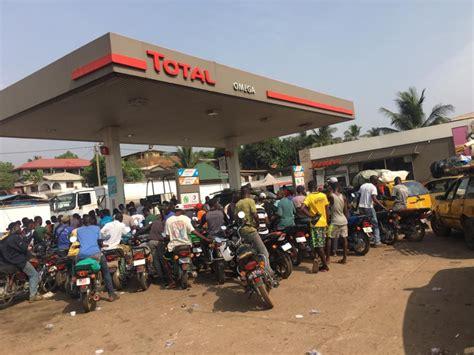 hoarding  shortage gasoline  scarce  liberias