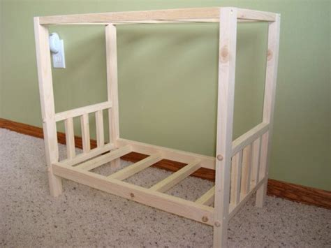 usa handmade solid wood doll canopy bed fits american girl