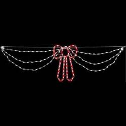 lighted christmas outdoor decorations swag lights with shimmer red bow christmas decoration