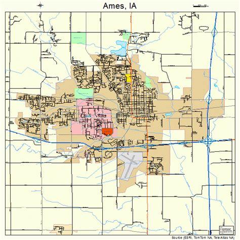 ames iowa street map 1901855