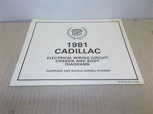 1981 Cadillac Electrical Wiring Circuit Chassis Diagrams