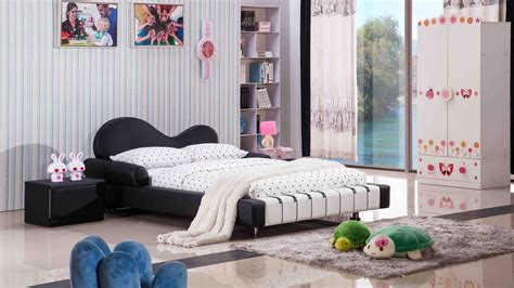 child twin bed piano leather upholstered black and white kid s bed 11084