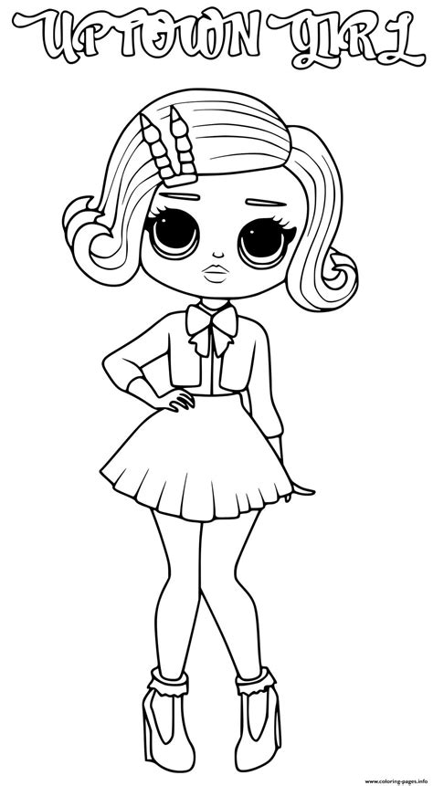uptown girl lol omg coloring pages printable
