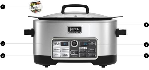 ninja multi cookers sear bake slow cook steam