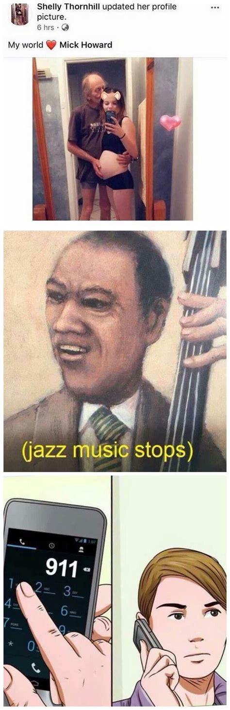 #jazz music stops #long post #tv screenshots. *jazz music stops* - 9GAG