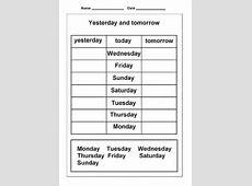 Days of the Week Worksheets Loving Printable