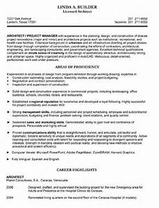 architect resume resume cv template examples With cv template for architects