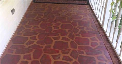 painted concrete porch   stone stencil hometalk