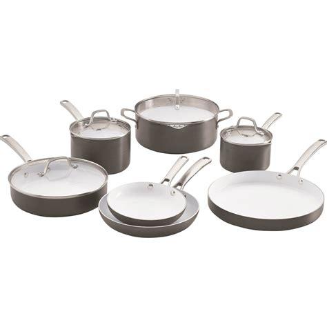 calphalon classic ceramic nonstick  pc cookware set  stick household shop  exchange