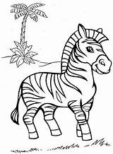 Coloring Zebra Pages Zoo Animal Easy Read Colouring Printable sketch template