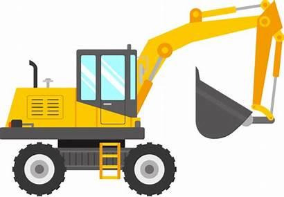 Excavator Clipart Clip Digger Truck Transparent Crane