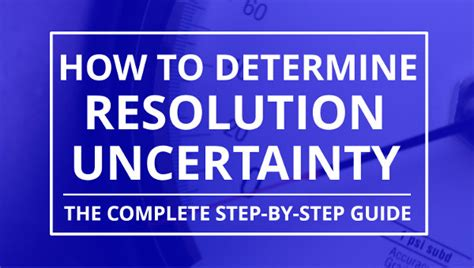 How To Calculate Resolution Uncertainty Isobudgets