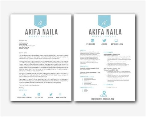 Matching Cover Letter And Resume Templates the world s catalog of ideas