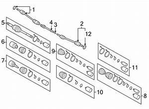 2002 Kia Sedona Cv Intermediate Shaft  Axle  Assembly  Axles