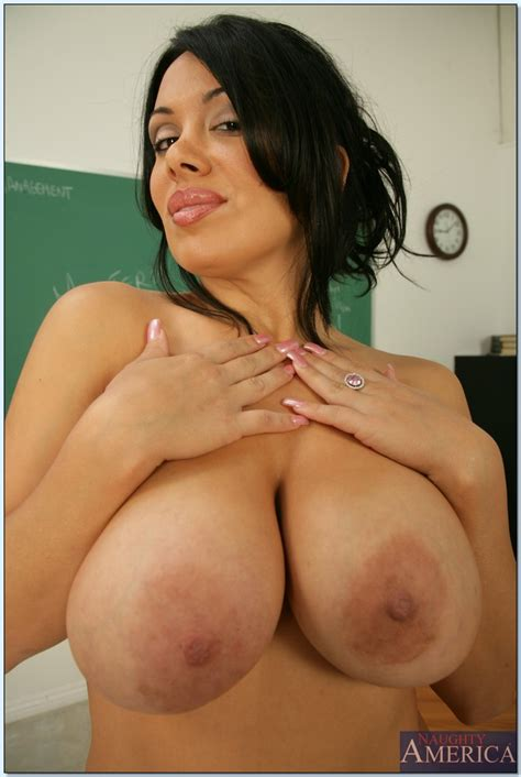latin milf teacher sienna west fondling huge tits and spreading pussy
