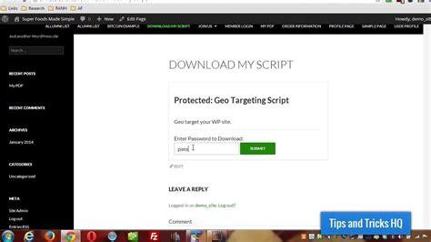 create password protected downloadable files  wordpress