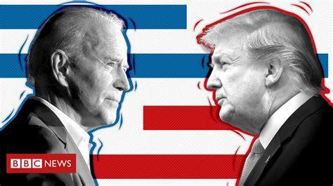 biden trump vs heating race apposing bbc