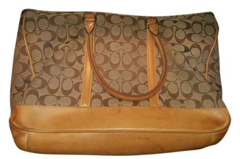 coach hj  monogram tan laptop bag tradesy
