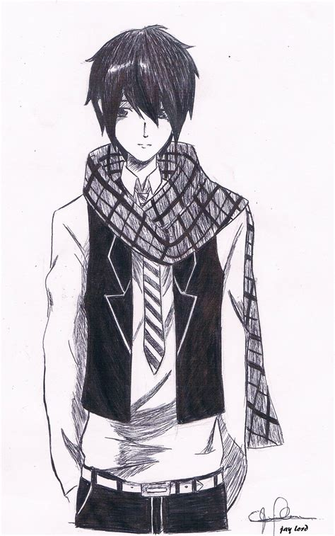 anime cool boy drawing cool anime by jlordsasshi48 on deviantart