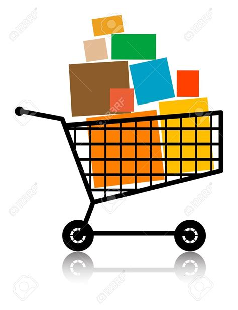 Shopping Cart Clipart Trolley Clipart Supermarket Trolley Pencil And In Color