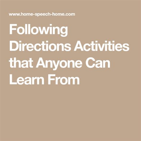 directions activities    learn