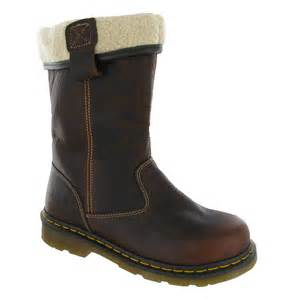 s steel cap boots nz womens dr martens rosa safety steel toe cap fur lined rigger boots size 3 8 ebay