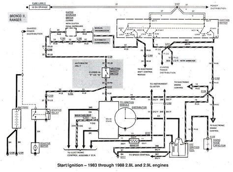 1989 Ford Truck Starter Wire Diagram by 1983 1988 Ford Bronco Ii Start Ignition Wiring Diagram