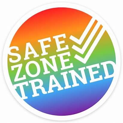 Safe Zone Trained Sticker