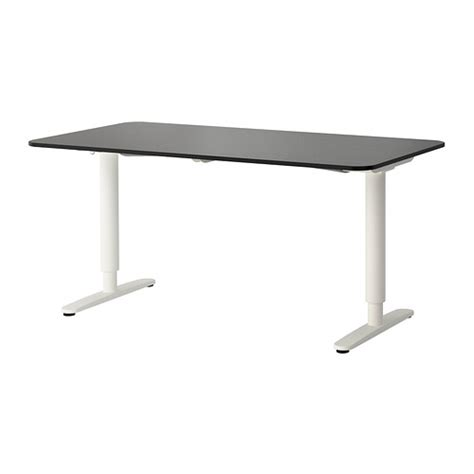 ikea sit and stand desk bekant desk sit stand black brown white ikea