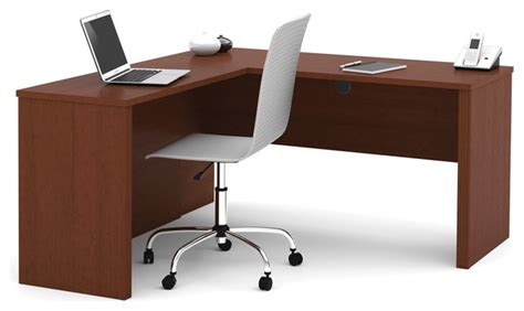 cognac bureau prestige l shaped workstation cognac cherry