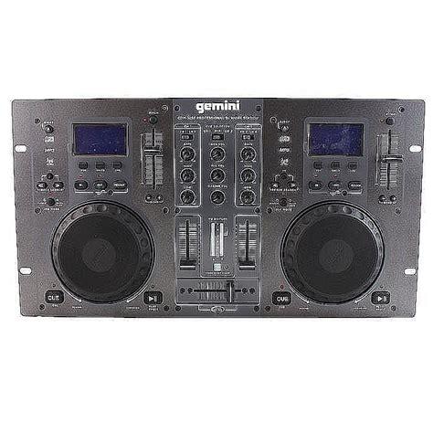 console gemini gemini gemini cdm3250 dual cd mixing console b stock