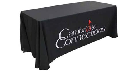 custom table covers with logo custom printed trade show table covers australia beeprinting
