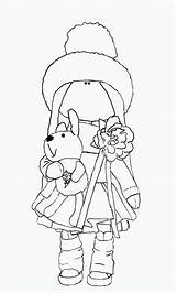 Coloring Rag Doll Printable Painted Dolls sketch template
