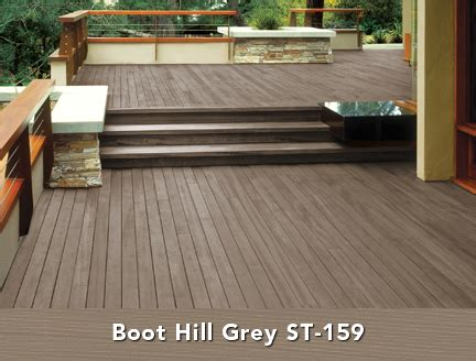 behr semi transparent wood stain  boot hill grey deck
