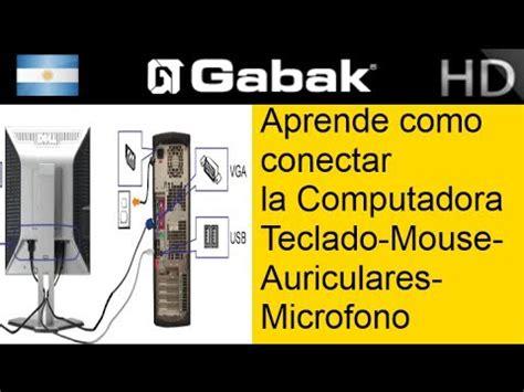 191 como conectar la pc teclado mouse parlantes auriculares etc gabak technologies