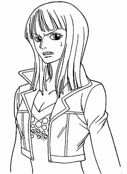 Coloring Anime Piece Pages Manga Printable Cartoon