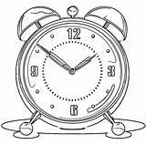 Coloring Alarm Clock Printable Clip Cartoonized Ingrahamrobotics sketch template