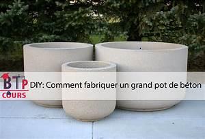 Fabriquer Grande Jardiniere Beton : diy comment fabriquer un grand pot de b ton btp cours architecture et construction ~ Melissatoandfro.com Idées de Décoration