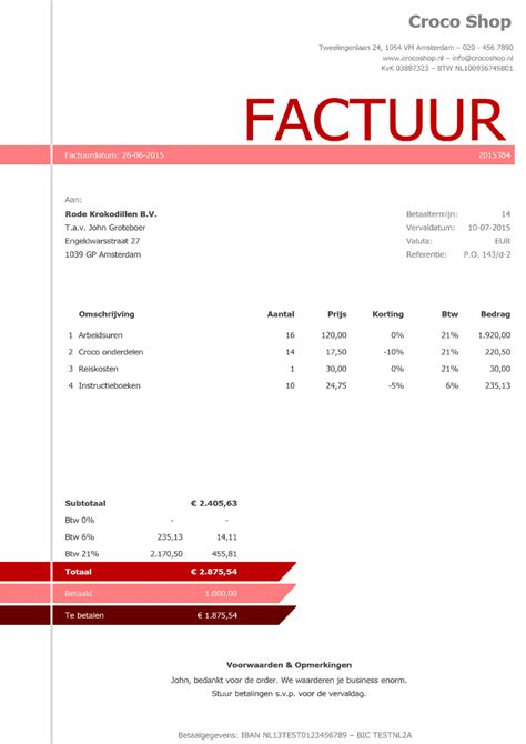 foto de Factuursjabloon Daisy Boekhouden in Excel