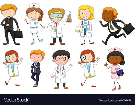 Man And Woman From Different Occupations Vector Image