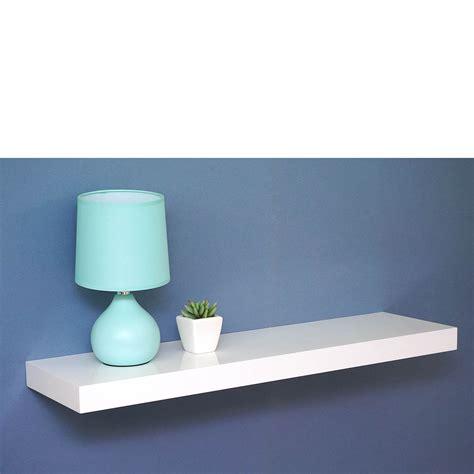 Gloss White Floating Shelf 900x250x50mm Mastershelf
